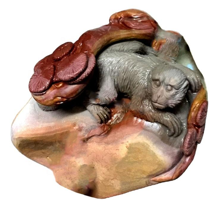 carved animal picture stone