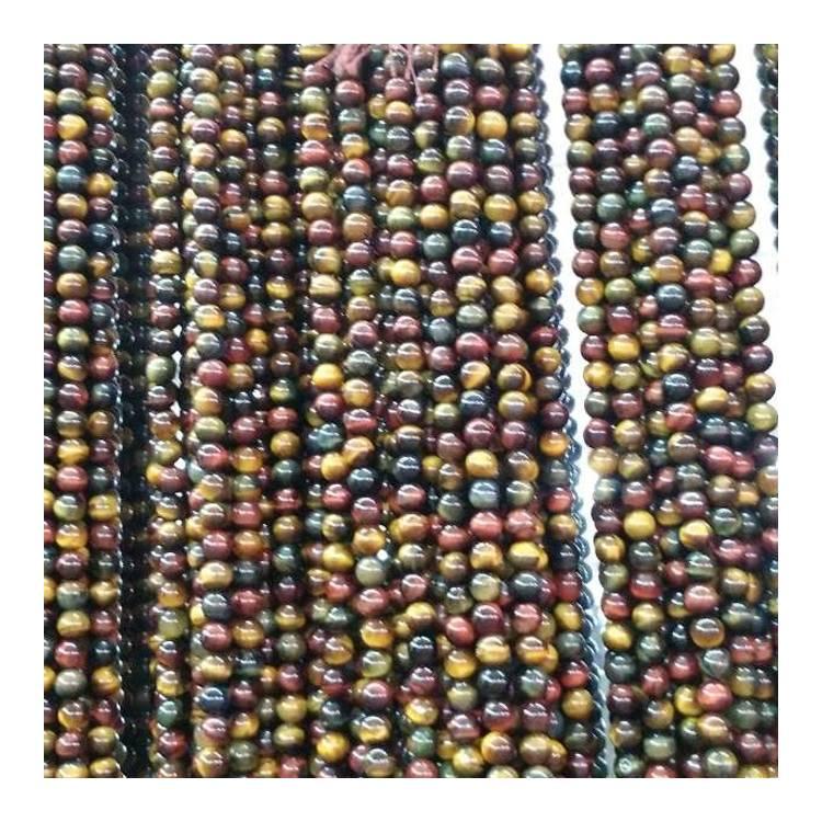 Wholesale Loose Gemstone Natural Tiger Eye Beads For Necklace Making
