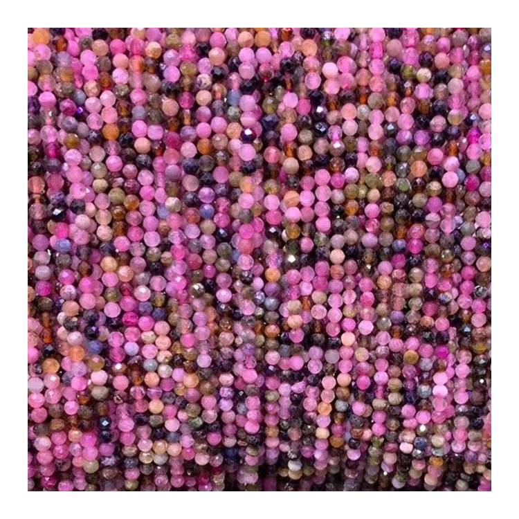 Multi Tourmaline Faceted Beads natural loose gemstone beads