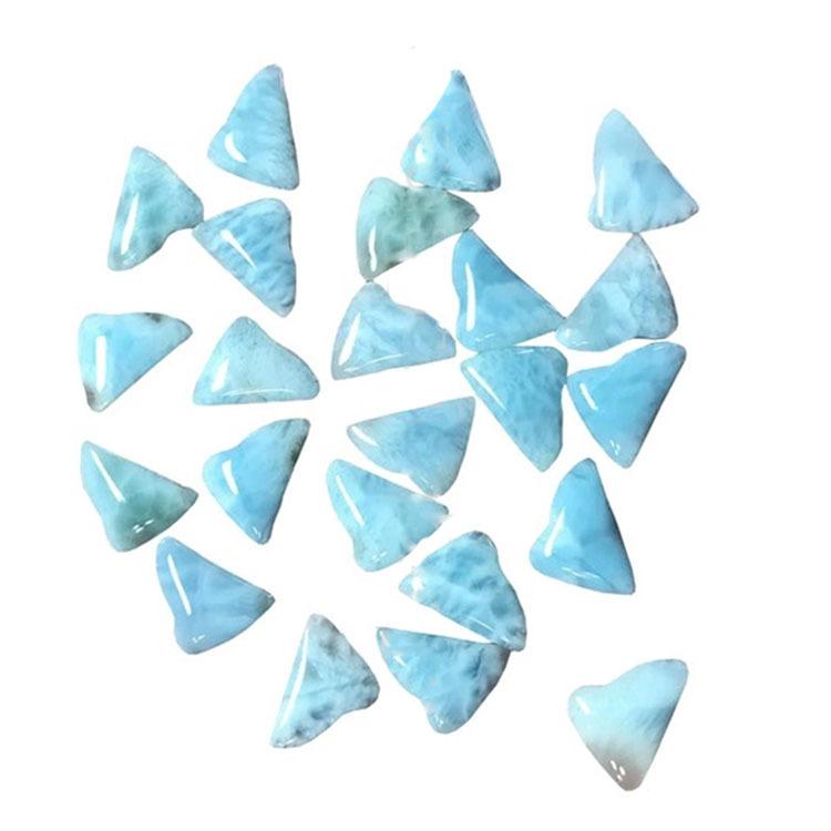 Natural Larimar irregular shaped cabochon genuine gemstone