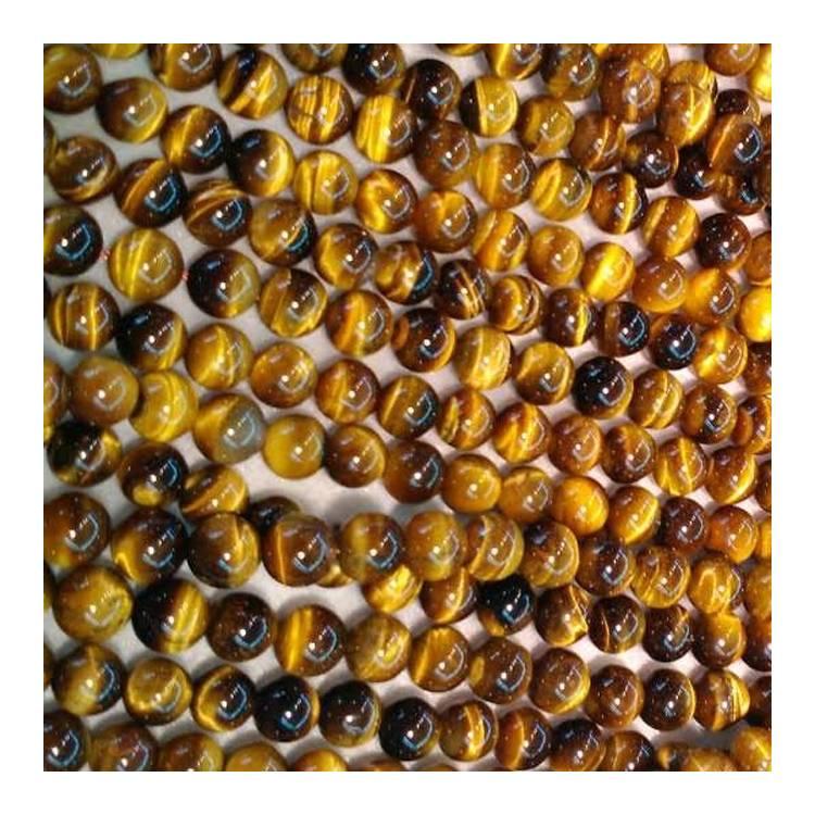 Natural Yellow Tiger Eye Round Beads Energy Gemstone Loose Bead For DIY Jewelry Making