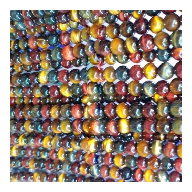 Wholesale Amazon NEW product mixture colorful tiger eye natural stone loose gemstone beads