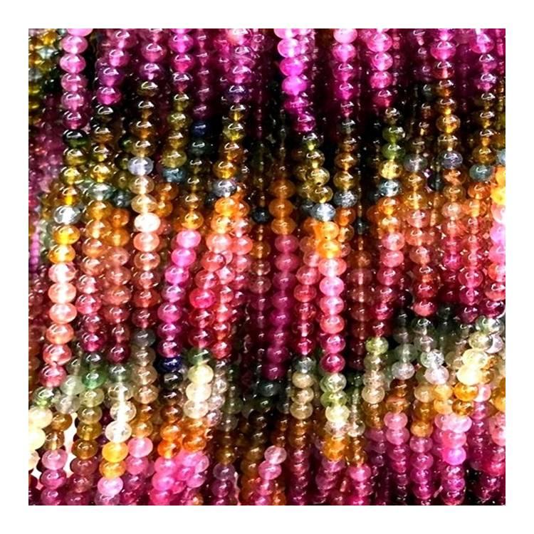 Full Strand Multi Tourmaline Round Beads 6mm 8mm 10mm Wholesale Gemstone For Jewelry Making