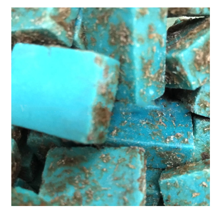 clean stones Sleeping Beauty Turquoise Bricks