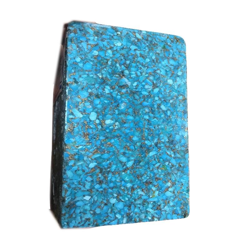 Block Big Size Turquoise Natural Stone China Turquoise  copper turquoise bricks wholesale